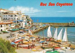 España--Tarragona--1986--Roda De Bara--Playa-Roc San Cayetano Y Puerto--Fechador-Vendrell - Tarragona