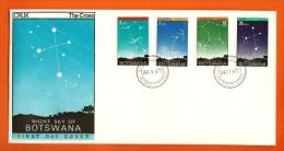BOTSWANA, 1972, MNH F.D.C., Star Constellations, Nr(s) 84-87, F3147 - Botswana (1966-...)