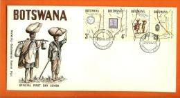 BOTSWANA, 1972, MNH F.D.C., Mafekeng Boat Post, Nr(s) 88-91, F3148 - Botswana (1966-...)