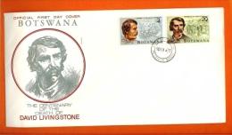 BOTSWANA, 1973, MNH F.D.C., David Livingston, Nr(s) 100-101, F3151 - Botswana (1966-...)