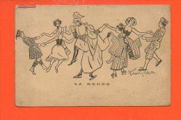 ESPERANTO - LA RONDO - Correspondance Pour SOTTEVILLE Les ROUEN - Année 1909 - Illustrateur R Mentin Blacr - Esperanto