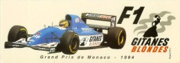 LigierF1 Gitanes Blondes Sticker 21x7,5cm Grand Prix De Monaco 1994 - Automobile - F1