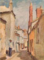 Back Lane, Herbert Truman, St Ives, Cornwall, England Postcard Sweetman Fac-sim-oil-colour - St.Ives