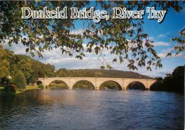 Dunkeld Bridge, Perthshire, Scotland Postcard - Perthshire