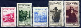 ROMANIA 1931 Scouting Exhibition Set LHM / * - 1918-1948 Ferdinand, Charles II & Michael