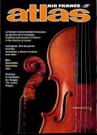 ATLAS AIR FRANCE   01 1989   Facture Instrumentale Musique , Leningrad , Seychelles , Vosges - Aardrijkskunde