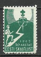 Estland Estonia Estoniein Exil 1962 Pfadfinder Scouting Boy Scouts MNH - Scouting