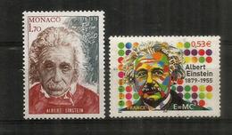 Hommage à Albert Einstein.Prix Nobel Physique 1921.  3 T-p Neufs ** Monaco.San Marino.France - Prix Nobel