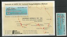 Exploitation Du Phosphate à L´île Nauru Et Export Vers L´Australie. 1 T-p + 1 BF Neuf ** Côte 9.00 € De L´ÎLE NAURU - Minerals
