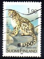 FINLAND 1989 Cent Of Helsinki Zoo - 1m90 Snow Leopard  FU - Finland