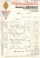 PUY DE DÔME - CLERMONT FERRAND - AUVERGNE AUTOMOBILE - AGENCE RENAULT - BEURLAT & BOUCHAUDY - 1937 - Cars