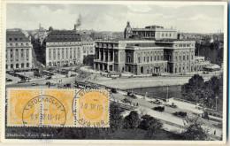 _4Cp-571:N°56+56+56: STOCKHOLM 1  9 9 32 16-17   AVR LBR / Carte Postale: Stockholm Kungl. Teatern>Antwerpen BE - Lettres & Documents