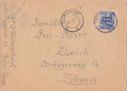 SBZ Brief EF Minr.194 Ludwigslust 9.8.48 Gel. In Schweiz - Sowjetische Zone (SBZ)