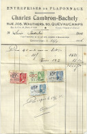 QUEVAUCAMPS CHARLES CAMBRON BACHELY  Entreprises De Plafonnage     16.05.1936 - Belgique