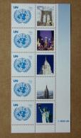 """Y1 Nations Unies (New York)  : Emblème De L'ONU Avec Vignette Personnalisée """"ville De New York"""" - New York – UN Headquarters"""