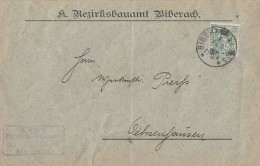 Württemberg Brief EF Minr.219 Biberach 6.2.06 - Wuerttemberg
