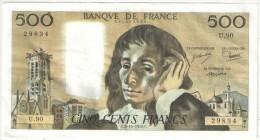 500 F Pascal - 5-10-1978 U 90 - 1962-1997 ''Francs''