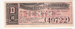 Original Little Louisiana Co. Of San Francisco - Louisiana State Lottery Co., 1893 - Lottery Tickets