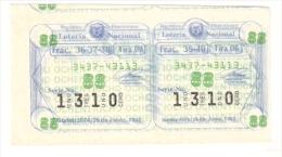 Loteria Nacional - Republica Dominicana 1992 - Lottery Tickets