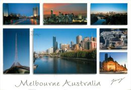 Melbourne, Victoria, Australia Postcard Used Posted To UK 2009 Stamp - Melbourne