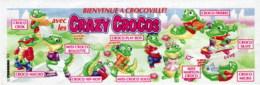 Kinder - Série Complète Crazy Crocos 1 Avec Bpz - Familles