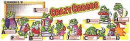 Kinder - Série Complète Crazy Crocos 2 Avec Bpz - Familles