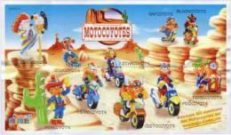 Kinder - Série Complète Motocoyotes Avec Bpz - Familles