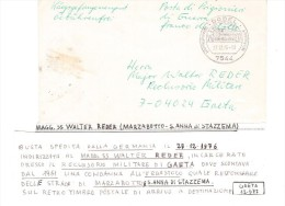 VA/30 - GERMANIA 1976 - Kriegsgefangenenpost Da Karlsruhe Al Reclusorio Militare Di Gaeta - Militaria