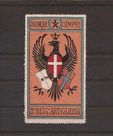 MILITARE 21° REGGIMENTO ARTIGLIERIA 1900 ROSA - Cinderellas