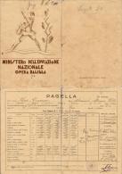 FASCISMO OPERA NAZIONALE BALILLA PAGELLA SCOLASTICA BOSA SARDEGNA 1933 - Diploma & School Reports