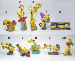 Kinder - Série Complète Super Giraffe Italie Avec Bpz - Familles