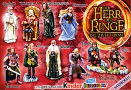 Kinder - Série Complète Herr Der Ringe 2avec Bpz Et Variantes - Familles