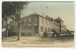27 - Vernon        Ecole Primaire Supérieure De Jeunes Filles (Pub Des Andelys) - Vernon