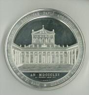 RARA MEDAGLIA PIO IX - 1846 - 1878 - LAVORAZIONE FONDO SPECCHIO - G. 301 DIAM. Mm 82 - RICOSTRUZIONE BASILICA SAN PAOLO - Tokens & Medals