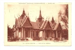 Cp, 75, Paris, Exposition Coloniale Internationale ( 1931 - Section Indochine - Pavillon Du Cambodge, Voyagée 1931 - Expositions