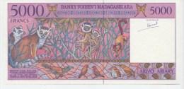 5000 FRS. ETAT NEUF. - Madagaskar