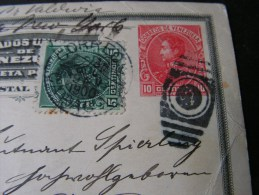 == Venezuela , 1900 Karte Nach Hannover - Bug Ecke - Venezuela