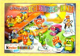 Kinder Série Complète Schreibtisch Bande Allemagne Avec Bpz Et Variantes (accessoires De Bureau) - Familles