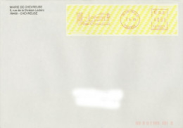 EMA R 22894 Yvelines 78 + Flamme Chevreuse Sur Env De La Mairie + Blason - Postmark Collection (Covers)