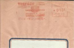Lettre  EMA Havas1956 Trefilor Grillage Animaux Bovin Taureau Theme 57 Woippy Metz A26/38 - EMA (Printer Machine)