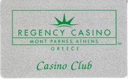TARJETA DEL CASINO REGENCY DE MONT PARNES (GRECIA) - Tarjetas De Casino