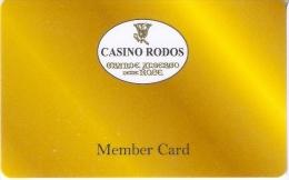 TARJETA DEL CASINO RODOS (GRECIA) - Tarjetas De Casino
