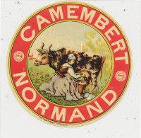 J P 471 / ETIQUETTE DE FROMAGE-  CAMEMBERT NORMAND - Fromage