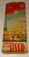 M-A @ N° 1 DEPLIANT SECTION URSS U.R.S.S  EXPOSITION UNIVERSELLE ET  INTERNATIONALE BRUXELLES 1958 - Programmi