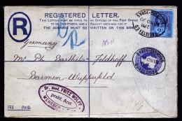 A2732) UK Registered Cover From Bradford-Yorks 11/18/1899 To Germany - 1840-1901 (Viktoria)