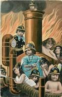 JB-14-142 :  Les Pompiers Bébés Multiples - Cartes Postales