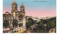 CPA-TUNISIE-TUNIS-AVENUE JULES FERRY-ANIMEE- - Túnez
