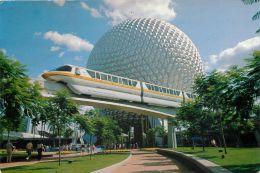 Epcot Center, DisneyWorld, Florida, United States USA US Postcard Used Posted To UK 1991 Stamp - Disneyworld
