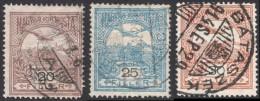 Hungary, 3 Stamps 1913, Sc # 92-94, Mi # 117X-119X, Used - Usati