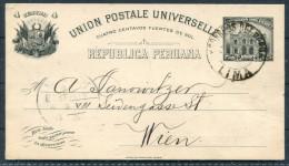 1907 Lima Private Stationery Banco Del Peru Y Londres - Wien, Austria / London Bank - Peru